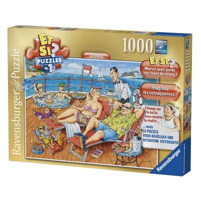Ravensburger Puzzle 1000 pièces : Et si ? : La loterie. Puzzle 1000 pièces : Et si ? : La loterie