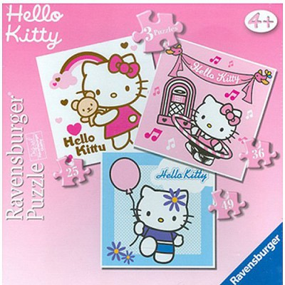 Ravensburger 3 puzzles - hello kitty