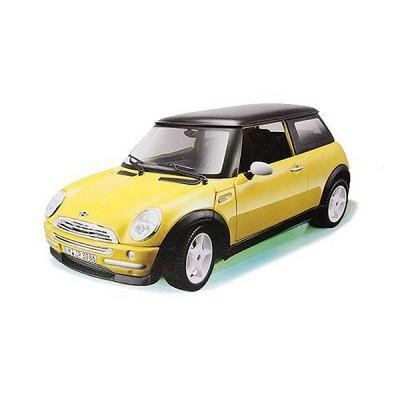 Bburago Modèle réduit mini cooper 2011 : collection kit echelle 1/32 jaune