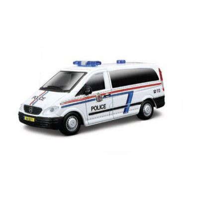 BBurago Modèle réduit Mercedes Benz Vito : Collection Emergency Force : Echelle 1/50 : Police