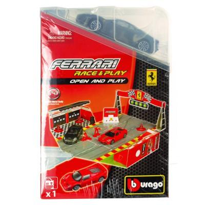Bburago Piste ferrari race & play avec modèle réduit 1/43 : ferrari 430 scuderia