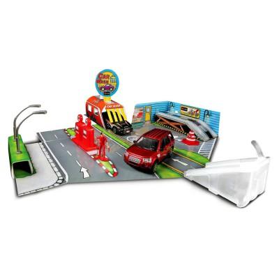 Bburago Diorama avec modèle réduit 1/43 : open and play set street fire : lav'auto