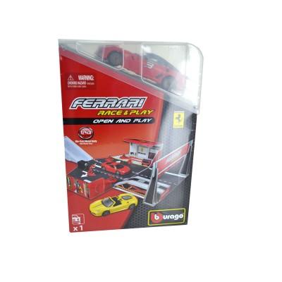 Bburago Piste ferrari race & play avec modèle réduit 1/43 : ferrari rouge