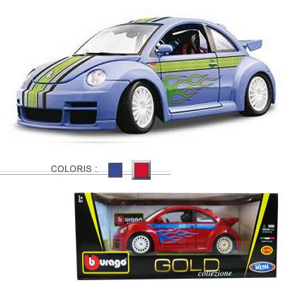 BBurago Modèle réduit - Volkswagen New Beetle Cup - Collection Gold - Echelle 1/18 : Rouge
