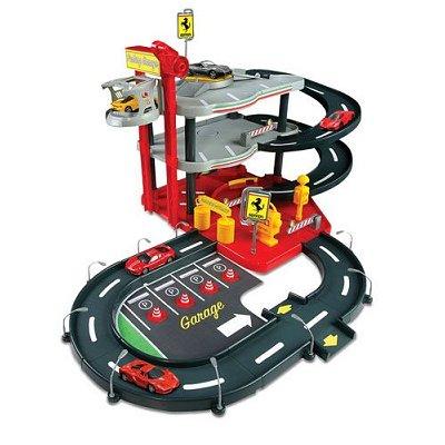 BBurago Garage avec parking Ferrari Race and Play Echelle 1/43