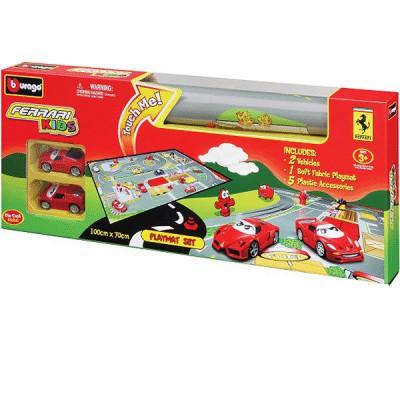 tapis de jeu circuit de voitures 100 x 70 cm ferrari kid bburago magasin de jouets pour. Black Bedroom Furniture Sets. Home Design Ideas