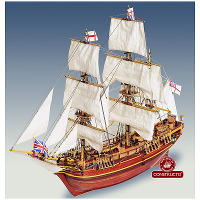 maquette bateau historique en bois hms bounty mod lisme naval constructo. Black Bedroom Furniture Sets. Home Design Ideas