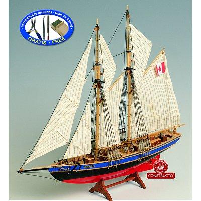 Constructo Maquette bateau en bois : bluenose ii