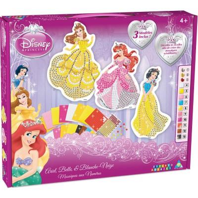 Orb Factory Mosaïque Sticky Mosaics : Princesses Disney Ariel, Belle et Blanche-Neige