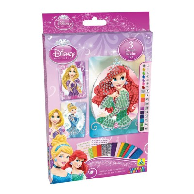 Orb Factory Mosaïque au numéro Sticky : Sparkling kit Princesses Disney