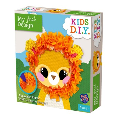 Orb Factory création plush craft : my first design lion