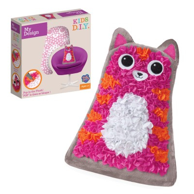 Orb Factory Création Plush Craft : My Design : Cuddly Cat Pillow
