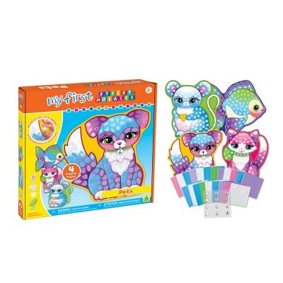 Orb Factory mosaïque aux numéros : sticky mosaics : tableaux d'animaux