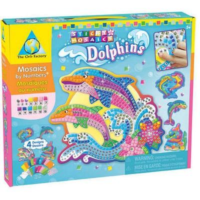 Orb Factory mosaïque mosaïque au numéro : dauphins