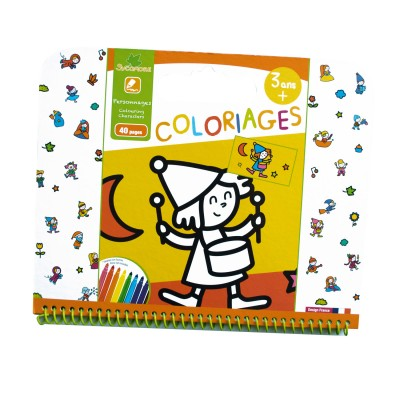Au Sycomore cahier de coloriages : personnages