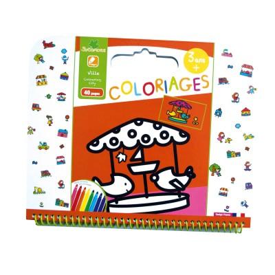 Au Sycomore cahier de coloriages : ville
