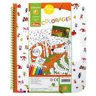 Au Sycomore cahier de coloriages : contes