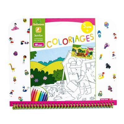 Au Sycomore cahier de coloriages : jardin