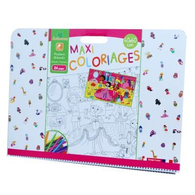Au Sycomore cahier de coloriages géant : maxi coloriages jumbo fille