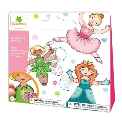 Au Sycomore pochette créative : création de pantins fille