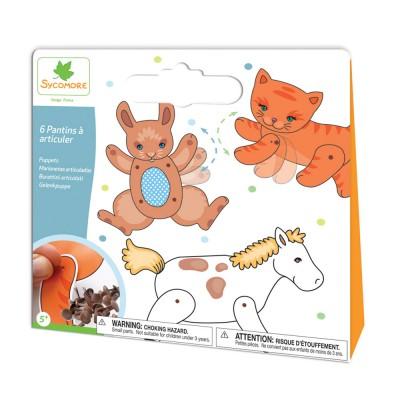Au Sycomore pochette créative : création de pantins animaux