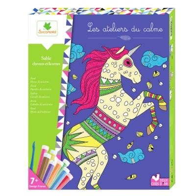 Au Sycomore atelier créatif sable : chevaux et licornes