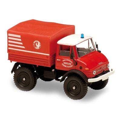 Solido Modèle réduit en métal : pompiers : camion mercedes unimog 406 vsm