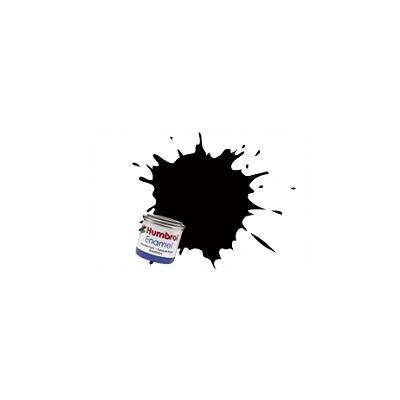 Humbrol 201 - noir métallique : enamel
