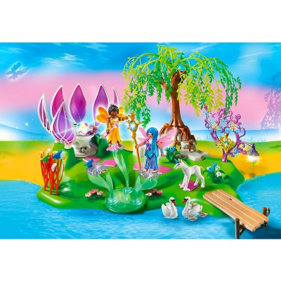 Playmobil Playmobil 5444 : Ile des fées avec fontaine de pierres précieuses