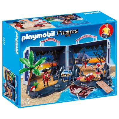 Playmobil Playmobil 5347 : Ile au trésor des pirates transportable