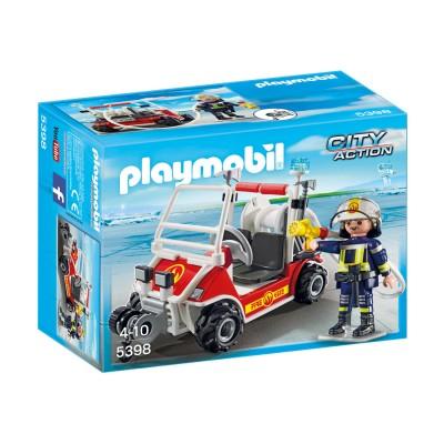 Playmobil Playmobil 5398 City Action : Chef des pompiers avec voiture
