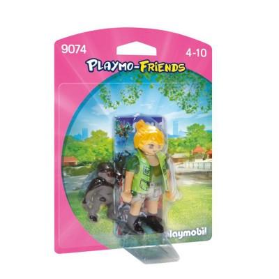 Playmobil Playmobil 9074 Playmo-Friends : Soigneuse avec bébé gorille