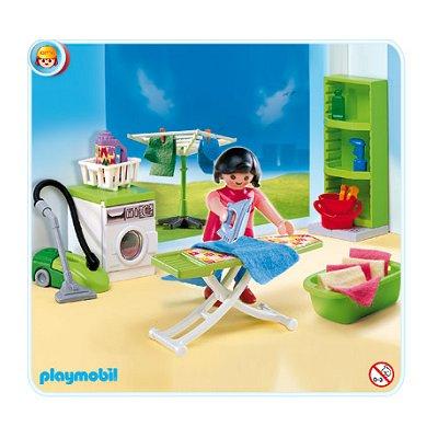Playmobil 4288 buanderie moins cher maison moderne for Playmobil maison moderne prix