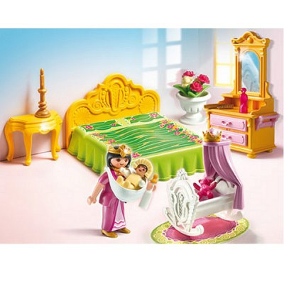 Playmobil 5146 chambre de la reine avec berceau for Playmobil chambre enfant