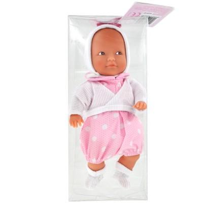 La Nina mini poupée anita : combinaison rose à pois