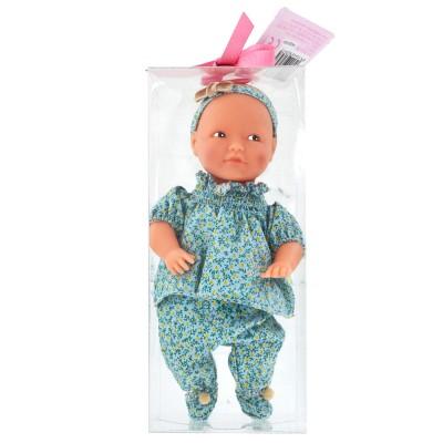 La Nina mini poupée anita : ensemble bleu/vert à motif fruité
