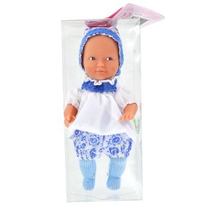 La Nina mini poupée anita : ensemble bleu et blanc
