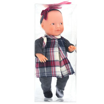 La Nina mini poupée anita : robe écossaise