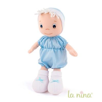 La Nina Poupée de chiffon : Bébé bleu