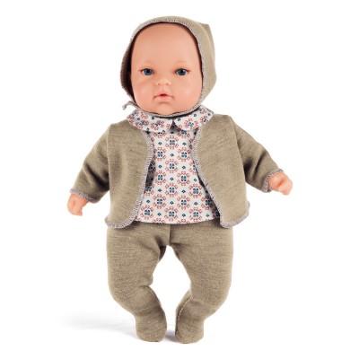 La Nina poupon le petit dudu 30 cm : ensemble tricoté