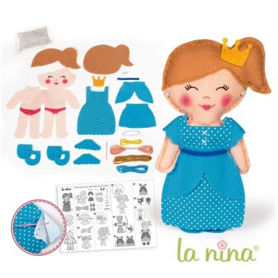La Nina kit créatif : poupée à coudre : ely 31 cm