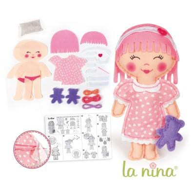 La Nina kit créatif : poupée à coudre : beth 28 cm