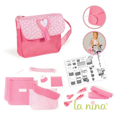 La Nina kit créatif : sac à coudre rose