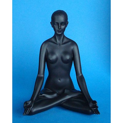 Parastone Figurine Body Talk Black : Padmasana : Femme position yoga pose lotus