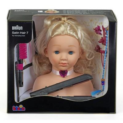 Klein Tête à coiffer Braun avec lisseur