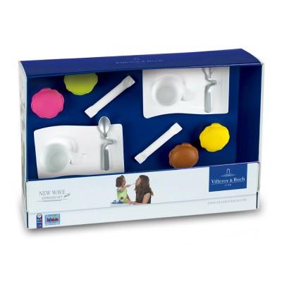 Klein Dinette Villeroy & Boch : New Wave Mini Espresso Set : 12 accessoires