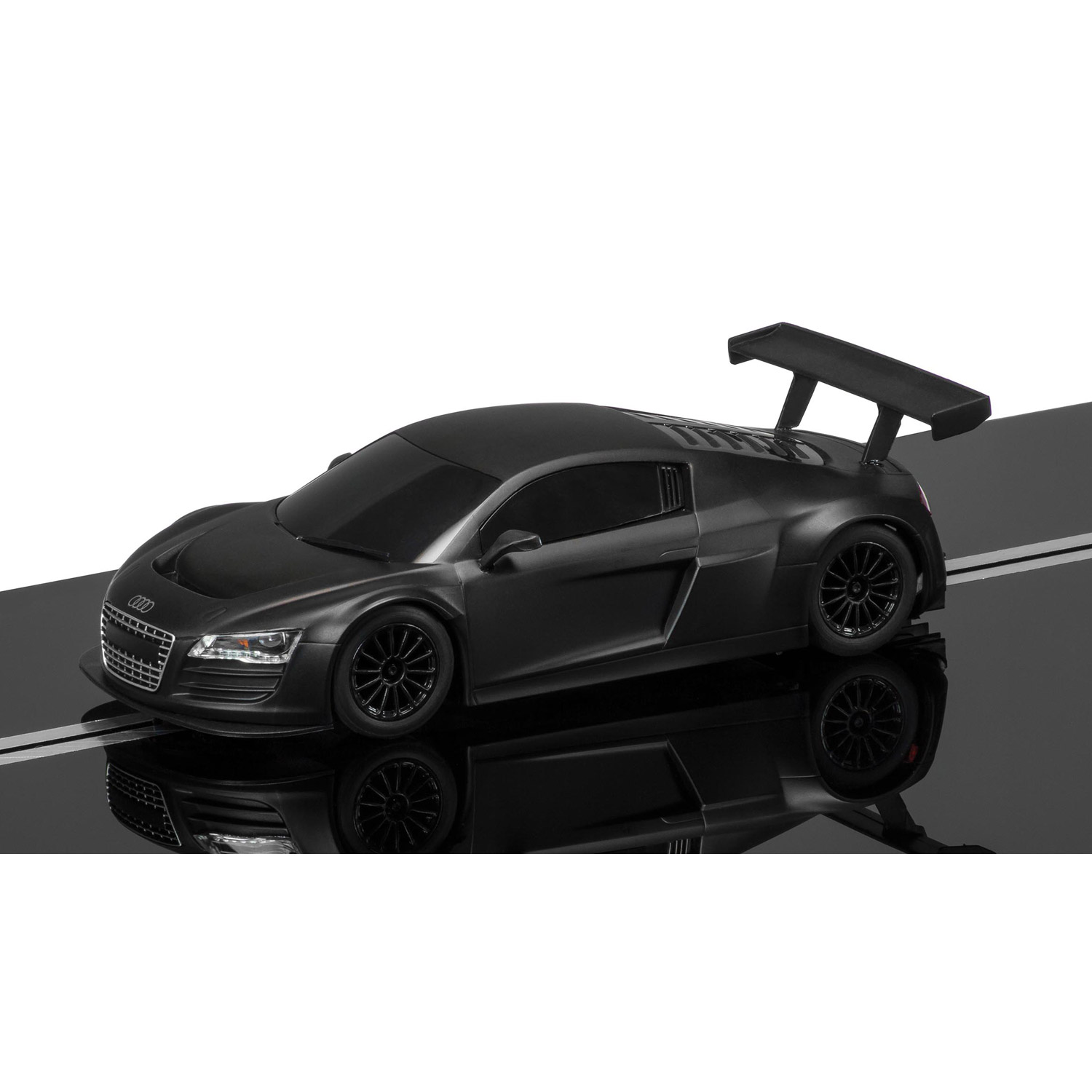 voiture pour circuit echelle 1 32 audi r8 lms noire ebay. Black Bedroom Furniture Sets. Home Design Ideas