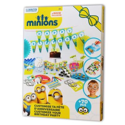 Darpèje Set de décoration Customise ta fête : Les Minions