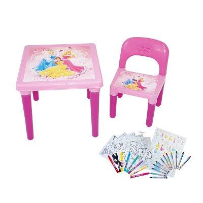 Darpèje Table d'activités et chaise : princesses disney