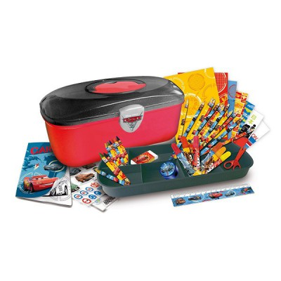 Darpèje Boîte à outils cars : coloriage et crayons